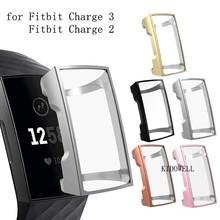 Dla Fitbit Charge 2 3 4 obudowa TPU silikonowa przezroczysta obudowa ochronna dla Fitbit Charge 2 smartband z zegarkiem akcesoria tanie tanio KIDOWELL CN (pochodzenie) Przypadki none Dla dorosłych For Fitbit Charge 3 wrist strap