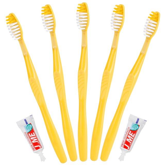1 piezas Baño de Hotel desechables cepillo de dientes de cepillo de dientes afilado cepillo de dientes suave pasta dental herramientas para viajero