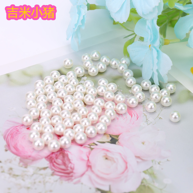 225pcs 6mm ABS Pearls Diy Beads Children Toys Girls Gift Straight Hole Lacing Bracelets Necklace Accessories Pearly Beaded Toy