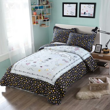 CHAUSUB Children Bedspread Kids Quilt Set 2PCS Quilted Cotton Quilts Bed Cover Sheets Pillowcase Twin King Size Summer Coverlets