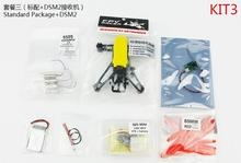 JMT Q100 Indoor Mini FPV Racing Drone KIT With Frame Brushed Motor ESC Battery Props DSM2 Receiver Yellow