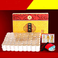 portable Stainless steel moxibustion massage box with 54pcs 10 years moxa stick moxibustion apparatus