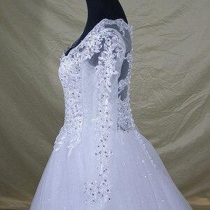 Image 5 - 2020 Vestido De Noiva Long Sleeve Lace V Neck Wedding Dress Modern Arabic Elegant Bridal Gown With Real Pictures