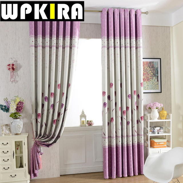 1 Panel Floral Print Curtains Windows Blackout Curtains Bedroom Darkening  Drapes Grey And Purple Curtain Royal Part 84