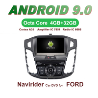 OTOJETA Car GPS Android 9.0 Radio For FORD FOCUS 2012 2013 8inch bluetooth Stereo Navigation DVD Capacitive screen Mirror Link