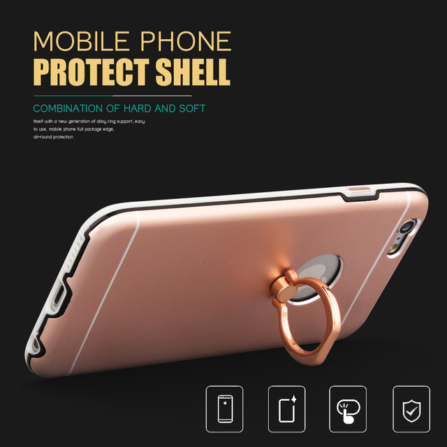 half off d92d1 5e94c US $5.99 |Top Quality Ring Holder Stand Ring Stent Phone Case Cover for  Apple IPhone 6 6s Case Phone Original Cover Color on Aliexpress.com |  Alibaba ...