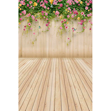 Vinyl Photography Background Flower Wooden Floor Computed Printed Children Backdrops for Photo Studio MR-1243
