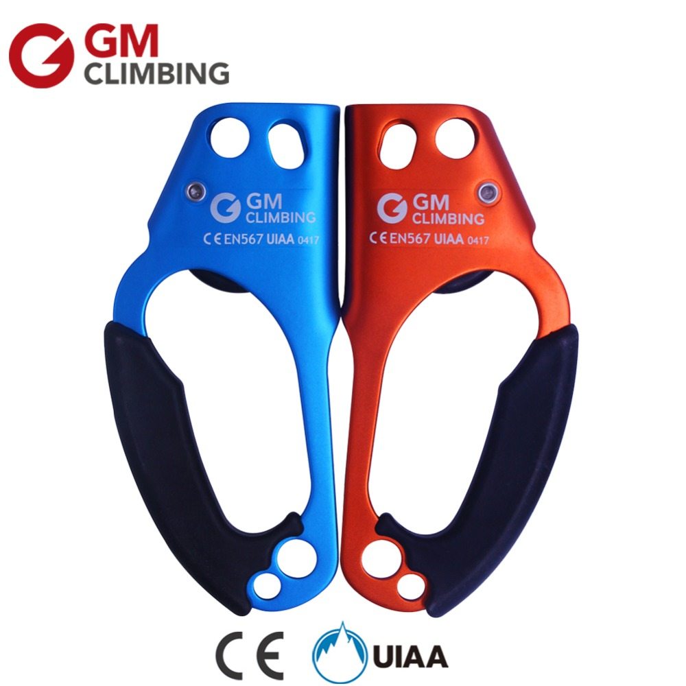 Professional Rock Climbing Ascender Set CE/UIAA Left/Right Hand Fix 8-12mm Rope For Arborist Caving Mountaineering Survival e0037 right hand ascender professional aerospace aluminum ascenders for outdoor mountaineering rock climbing