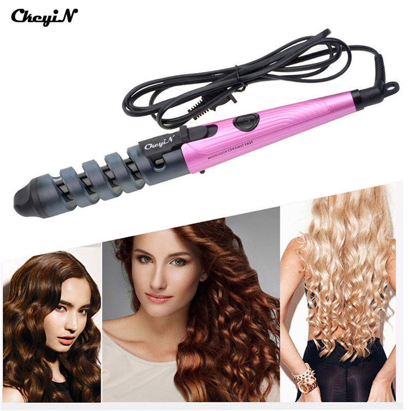 110-240V Electric Ceramic Hair Curler Pro Spiral Hair Roll Tongs Curling Iron Curl Wand Salon Hair Styling Tools Magic Styler automatic hair steam curler ceramic curling iron wand salon professional auto rotating styling steamer spray curl spiral machine