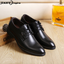 New Men Busineass Leather Shoes Lace-up Pointed Toe Dress Office For Male Top Quality zapatos de hombre vestir formal