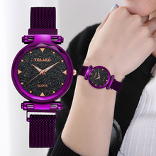 Starry Sky Women Watches Luxury Diamond Rose Gold Magnetic Mesh Ladies Quartz Wrist Watch Clock Gift Relogio Feminino