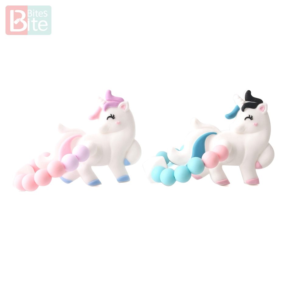 Dental Care Bite Bites 1pc Silicone Teether Dog Unicorn Food Grade Silicone Rodent Baby Bite Birth Gift Bpa Free Cartoon Baby Teether Baby Teethers