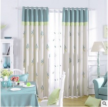 new korean embroidered blackout curtains for kids girl children bedroom with colorful floral pattern blackout