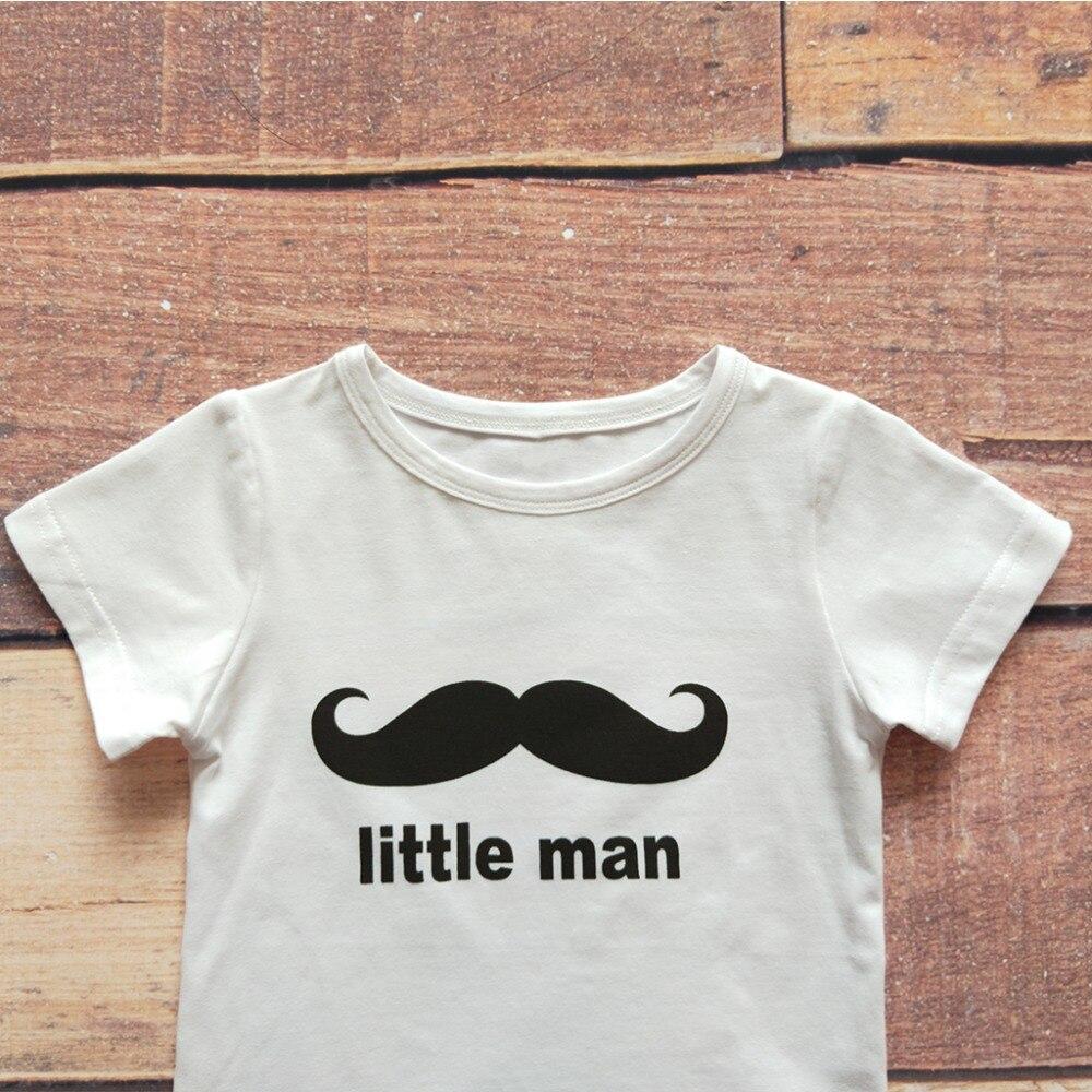 Babyinstar Cute Moustache Print Family Koszulka Big Man Little Man - Ubrania dziecięce - Zdjęcie 4