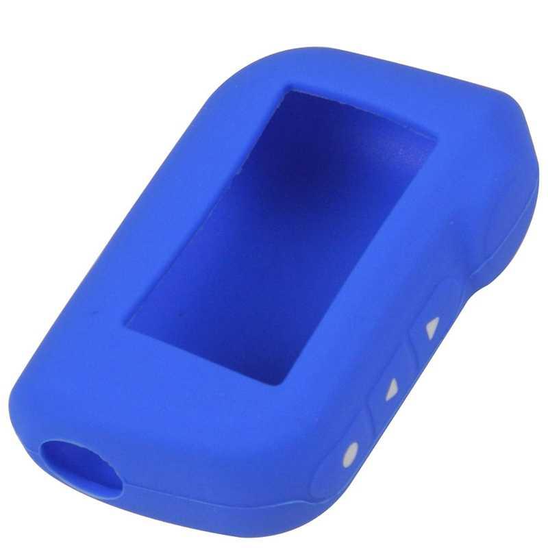A93 A96 Sleutelhanger Siliconen Cover Key Case voor Ster-lijn A93 Twee Richtingen Auto Alarm Afstandsbediening A63 LCD zender