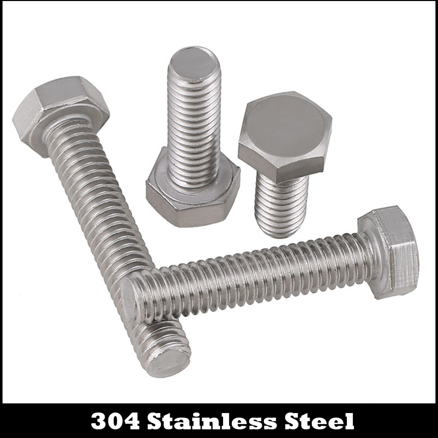 "1Pc 5/8-11 5/8-11*3-1/2 3-1/2"" Inch Length 304 Stainless Steel SS America US UNC Coarse Thread Screw External Hex Hexagon Bolt"