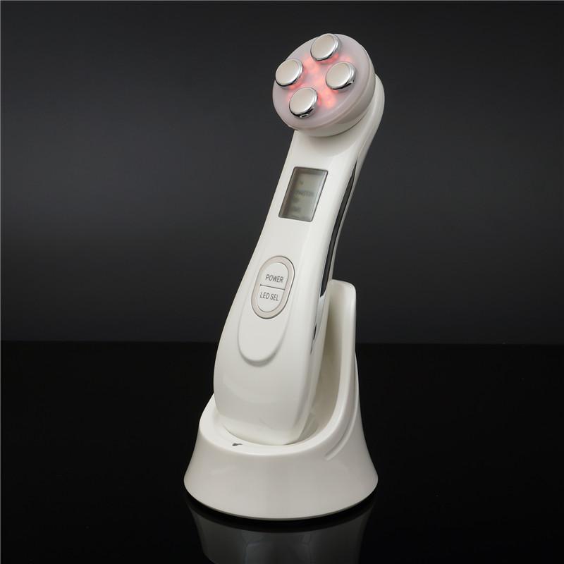 Rf radiofrecuencia mesoterapia electroporación dispositivo lifting facial apriete ojo facial led fotón cuidado de la piel facial