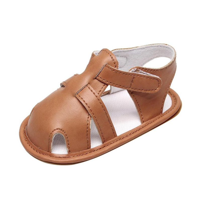 Infant Baby Boys Girls Leather Roman Sole Shoes Summer Sandals First Walkers Fashion Hook & Loop 2018 S3APR25