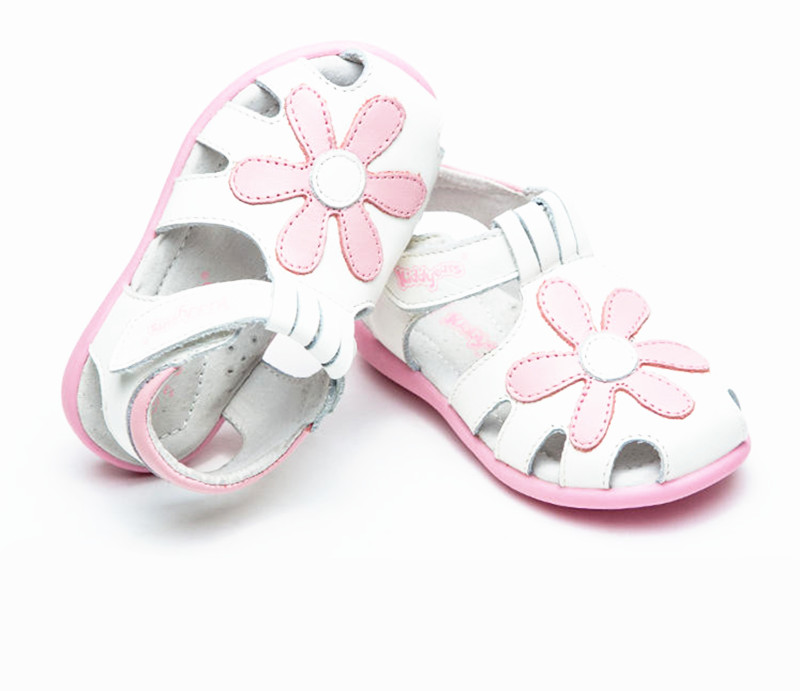 Super quality 1pair Genuine Leather Sandals Children kids Fashion Sandals, New Girl lovely arch support shoes