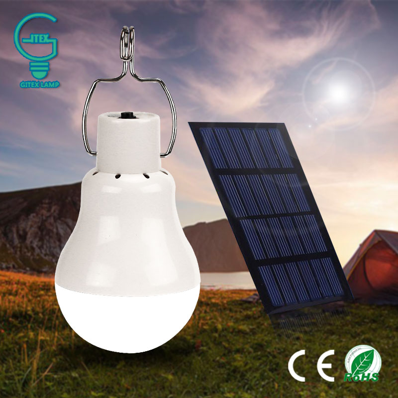 Gitex Solar Lampe Lampe 15 Watt 130LM Solarbetriebene Camping Licht 5 V Tragbare Outdoor-Solar Energy Aufgeladen Led-beleuchtung
