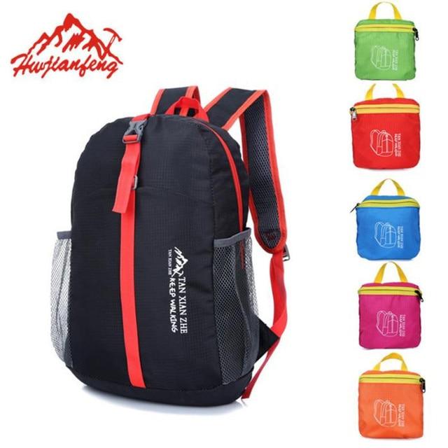 Outdoor Waterproof Folding Backpack School Satchel Outdoor Travel Sport  Hiking Climbing Laptop Bag Nylon Sport Unisex Backpacks 0103e4854b