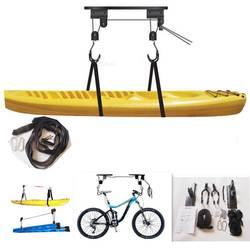 1 комплект каноэ байдарка подъемника велосипедный подъемник полиспаст комплект Garage потолочный стеллаж велосипедная стойка с 15 м веревки