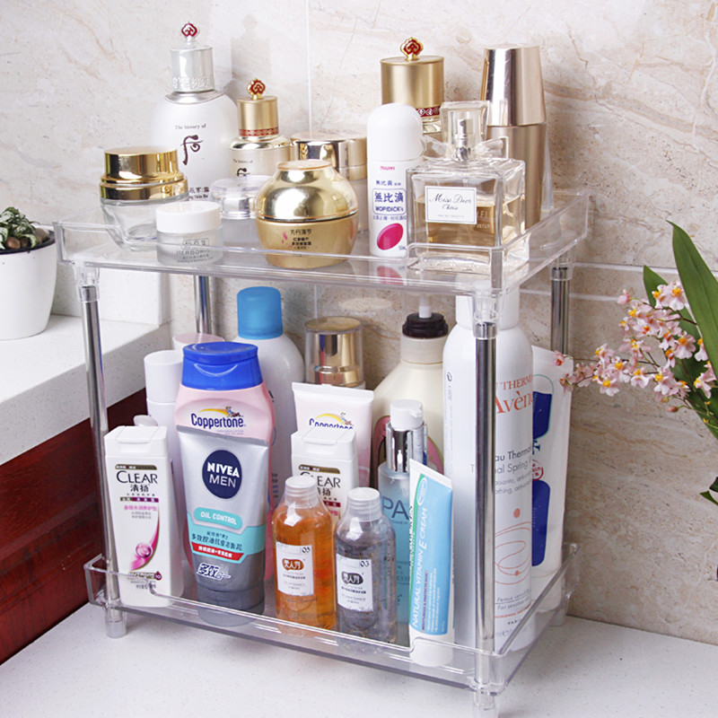 Transparent Acrylic Bathroom Storage Shelf skin care products ...