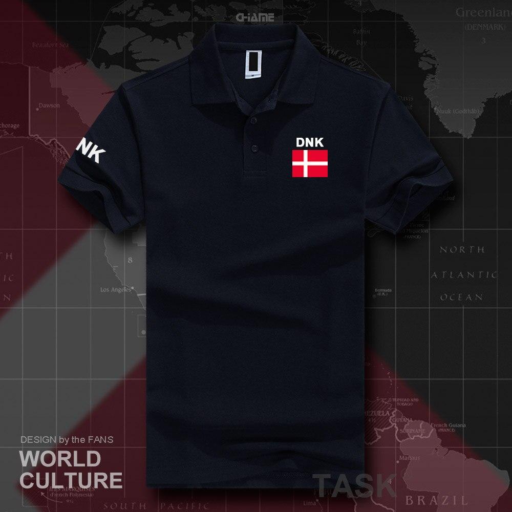 Denmark Danish   polo   shirts men short sleeve white brands printed for country 2017 cotton nation team flag new Danmark DK DNK