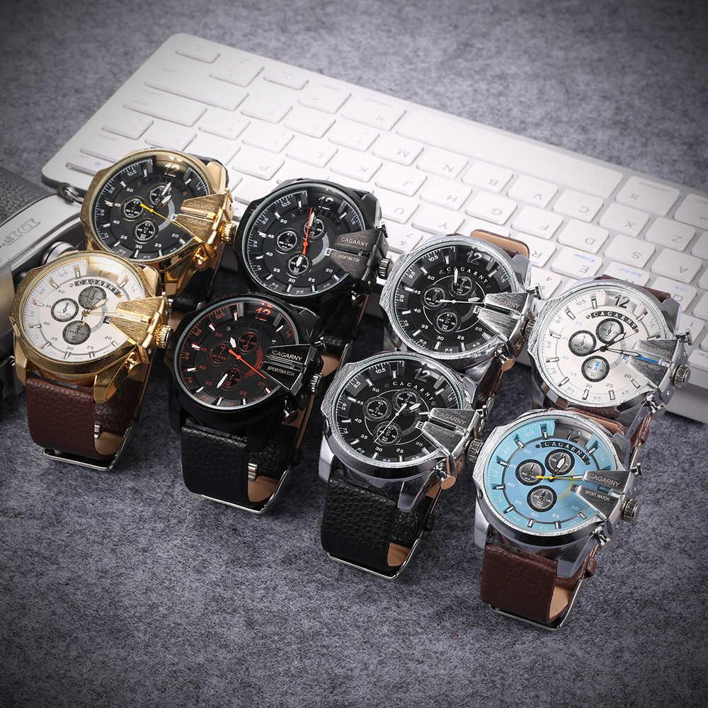 Relojes de cuero de marca de lujo para hombre reloj de cuarzo deportivo con pantalla analógica para hombre reloj de cuarzo militar informal