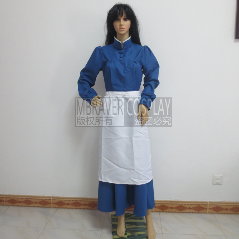 Free Shipping Howl's Moving Castle Sophie Hatter Dress Custom-made Cosplay Costume