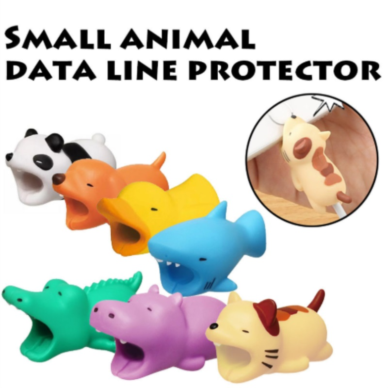 DROPSHIP Cable Bite Protector For Iphone Cable Winder Phone Holder Accessory Cable Biters Dog Rabbit Cat Animal Doll Squishy Toy
