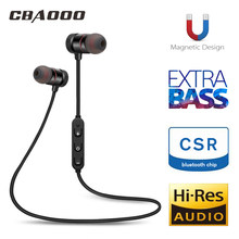 CBAOOO C40 Bluetooth Earphone Wireless bluetooth headset Sport weatproof Magnetic Stereo with mic for xiaomi iphone Android(China)
