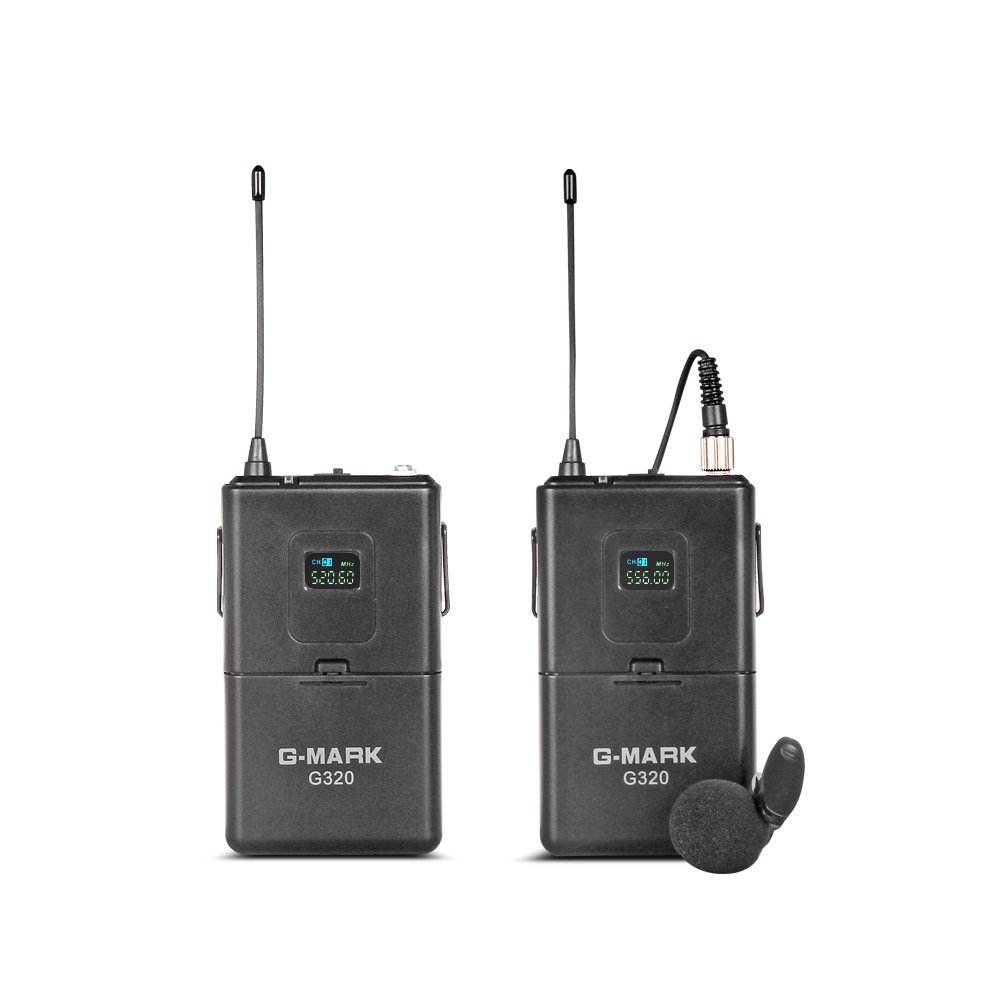 Image 5 - G MARK UHF Wireless Microphone System G320 Long Range Dual  Channel 2 Handheld Mic Transmitter Professional Karaoke Top  QualityMicrophones