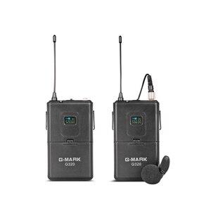 Image 5 - G MARK système de Microphone sans fil UHF G320 longue portée double canal 2 émetteur de micro portable karaoké professionnel de qualité supérieure
