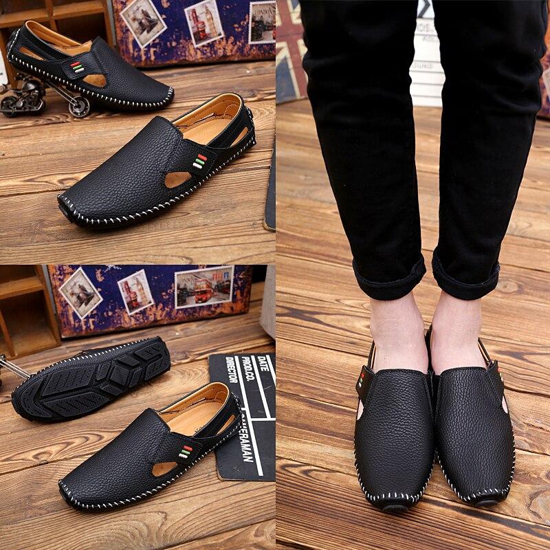 Mocasines Negro De Gris Cómodas Casual Black Conducción Slip ~ Hombre 2019 A179 On 47 Zapatos Conducir white Para Cuero Los blue Sandalias Calzado 37 Hombres wxq6tOFC