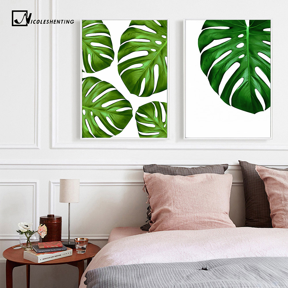 Nordic Style Plant Leaves Flamingo Minimalist Art Poster Print Motivational Quote Wall Picture Canvas Painting Home Decor