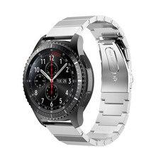 De luxe bracelet En Acier Inoxydable Bande de Montre De Courroie En Métal Fermoir Lien bracelet Pour Samsung Gear S3 Frontière noir or Argent