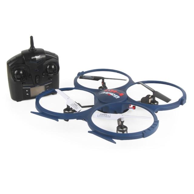 Venta caliente de 2.4 GHz de 4 CANALES 6 Axis Gyro RC Quadcopter Drone Headless con HD Cámara de Regalo 1 unids de Diciembre 1