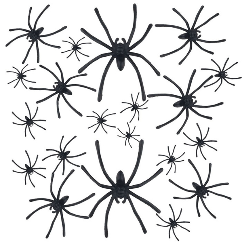 Wallpaper Sticker 20 PC Halloween Plastic Black Spider Joking Toys Decoration Realistic Wallpapers For Living Room 2018 B#