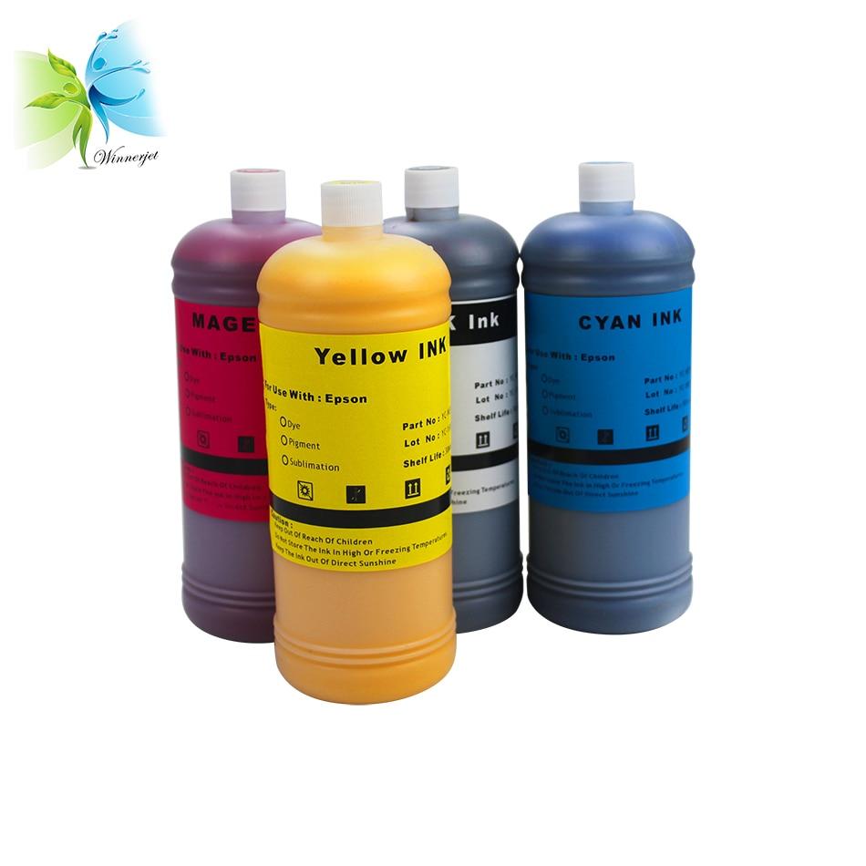 Winnerjet 1000ml 4 Colors Dye Ink for Epson Stylus SX230 SX235W SX420W SX425W SX430W SX435W SX438W Printer in Ink Refill Kits from Computer Office