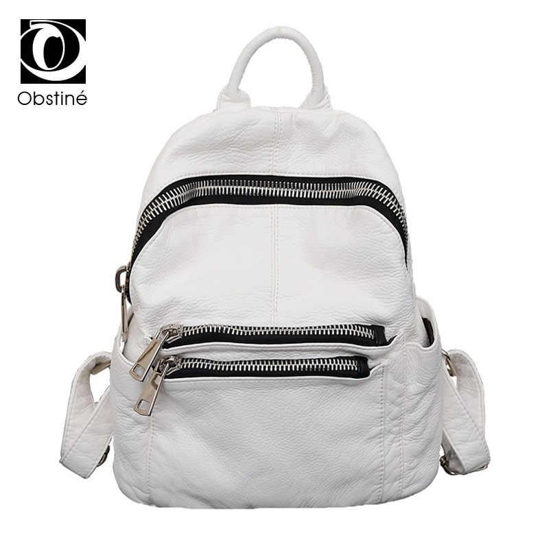 Female Backpack Leather PU White Bagpack Women College Back Pack for School Backbag Designer Backpacks for Teenage Girls Bookbag