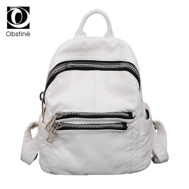 Sac à dos femme en cuir PU blanc sac à dos femmes collège sac à dos pour école sac à dos Designer sacs à dos pour adolescentes Bookbag