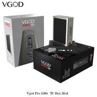 Original VGOD Pro 150 Mod PRO150 150w Box Mod sub ohm RDA RDTA Tank Carbon Fiber Vape Electronic Cigarettes Vgod Mech Mod