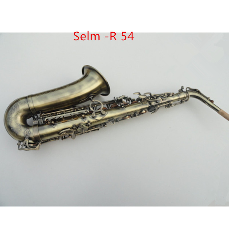 2018 High Quality Copy 95% Custom Mark VI Alto Saxophone Antique Copper Saxophone Brass Instruments E Flat Sax With Case professional red antique alto saxophone sax high f engraving with case