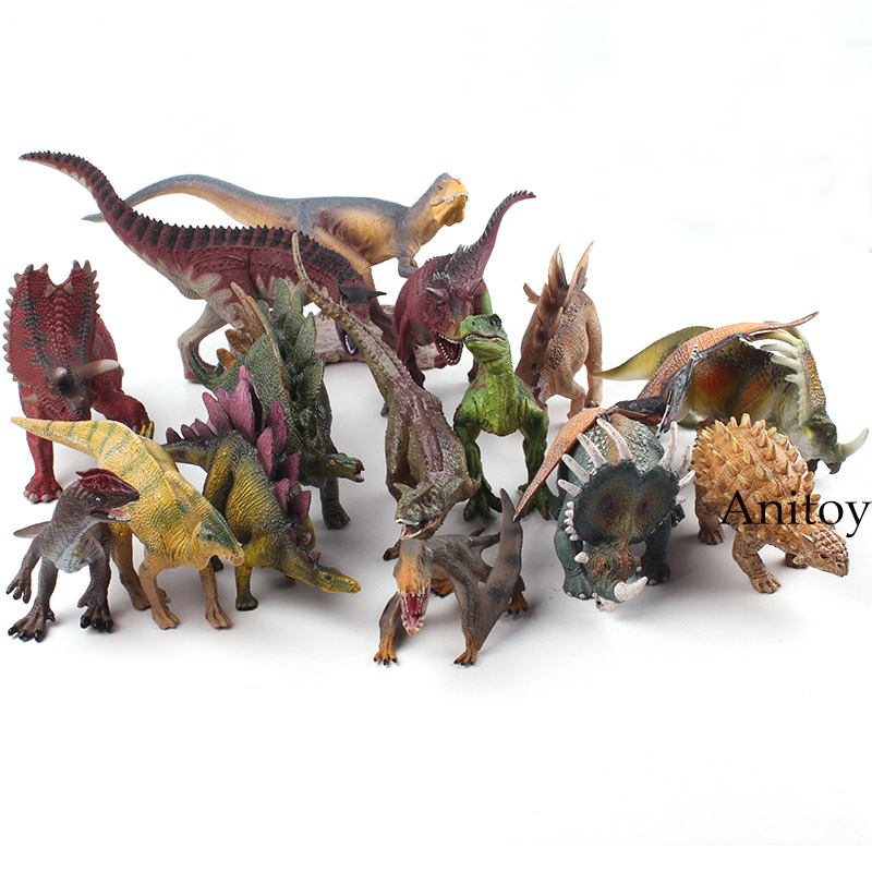 World Jurassic Park Wildlife Dinosaur Toys Animal Plastic Toy PVC Jurassic World Dinosaur Figures Children's Toy Gifts 14 Styles jurassic world park tyrannosaurus rex velociraptor dinosaur model toys animal plastic pvc action figure toy for kids gifts