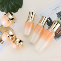 Free Shipping 6pcs/set Empty Refillable Gradient Pearl Glass Lotion Pump Bottles Cream Box Package Cosmetics Makeup Tools set