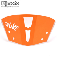 For KTM DUKE 125 200 DUKE 390 2013 2016 Orange CNC Windshield Windscreen Upper Headlight Top