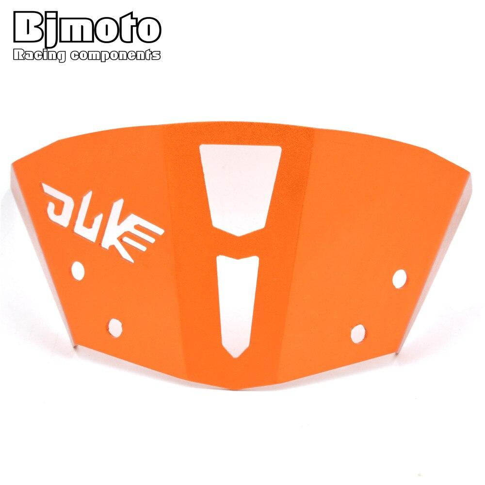 For KTM DUKE 125 200 DUKE 390 2013-2016 Orange CNC Windshield Windscreen Upper Headlight Top Mount Cover Panel Fairing Screen free shipping cnc frame sliders protectors guard for ktm 125 200 390 duke