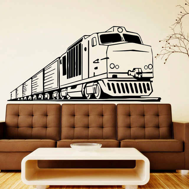 Aliexpresscom Buy Long Wall Stickers Train Decorative Vinyl - Vinyl stickers designaliexpresscombuy eyes new design vinyl wall stickers eye wall
