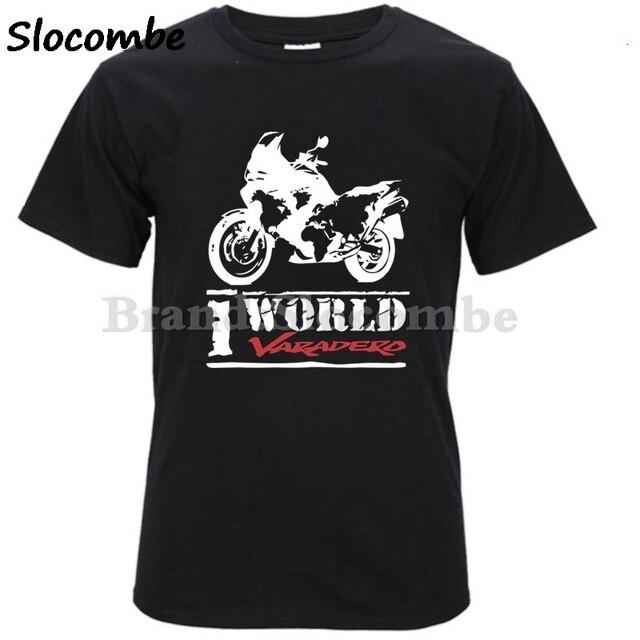 Новая модная мужская футболка 100% хлопок мужские футболки с короткими рукавами HONDA VARADERO Xl 1000 футболка для любителей мотоциклов Мужская футболка